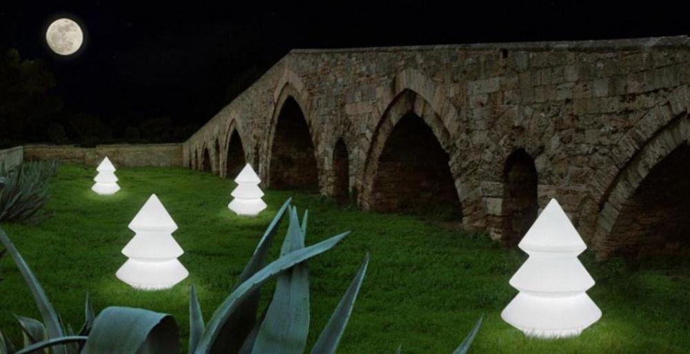 Illuminazione giardino lampada pino luminoso da terra made in