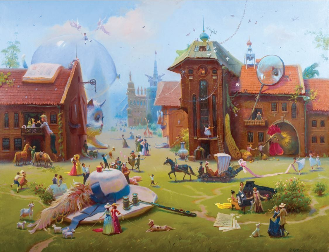 Artifact Puzzles - Rekunenko Charming Village Wooden Jigsaw Puzzle