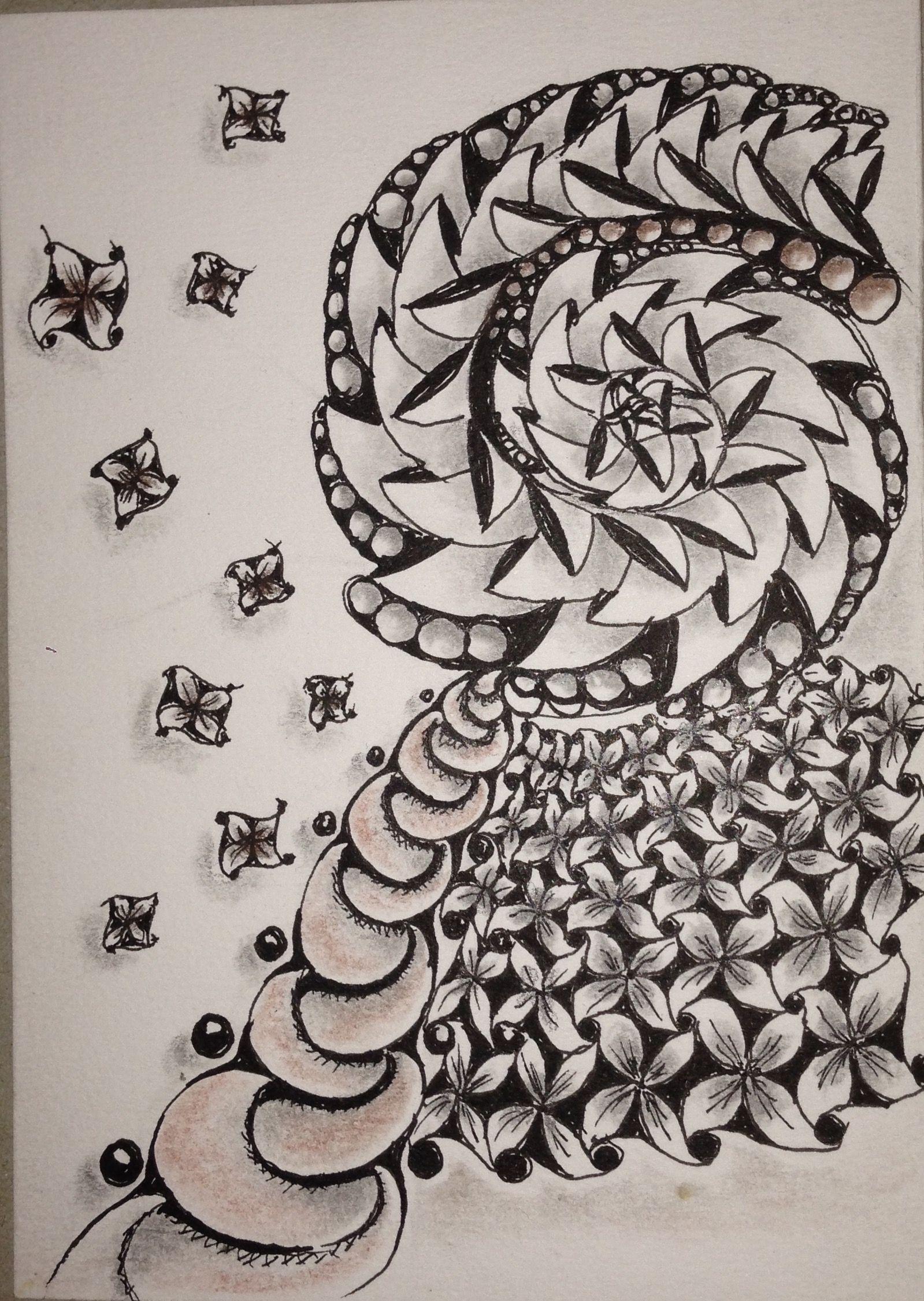 mein 1 zentangle  zeichnung