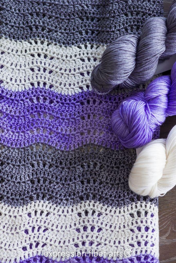 How to Crochet an Easy Beginner Baby Blanket - Pattern | Crochet ...