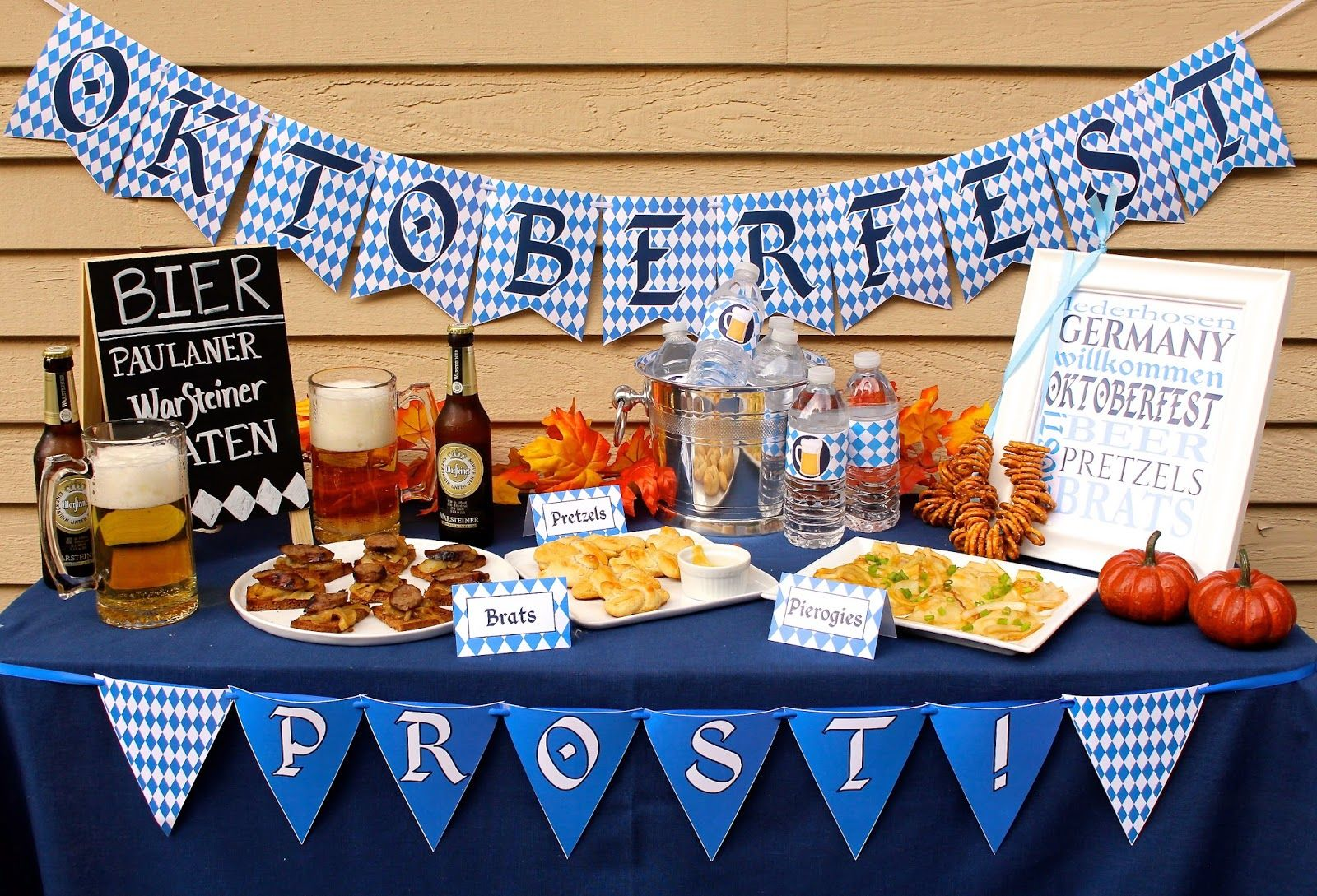 Oktoberfest Mottoparty Prepping Parties Oktoberfest Party Decor Printables