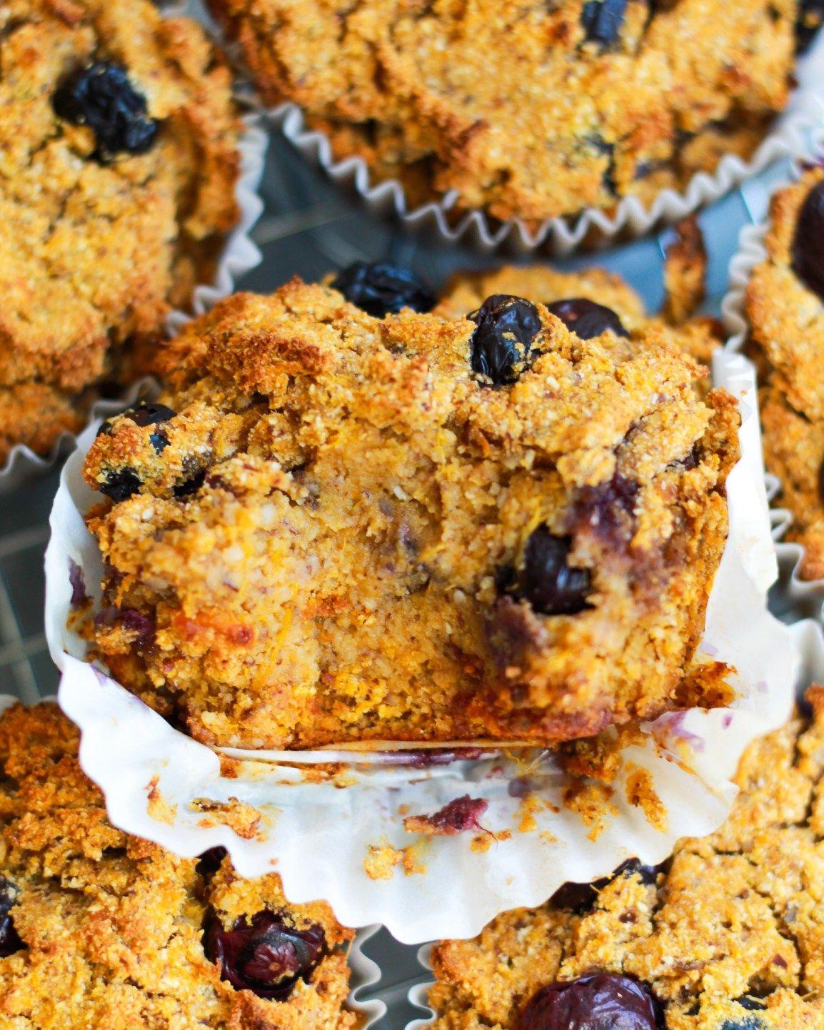 Vegan Paleo Blueberry Muffins Grain Free Gluten Free