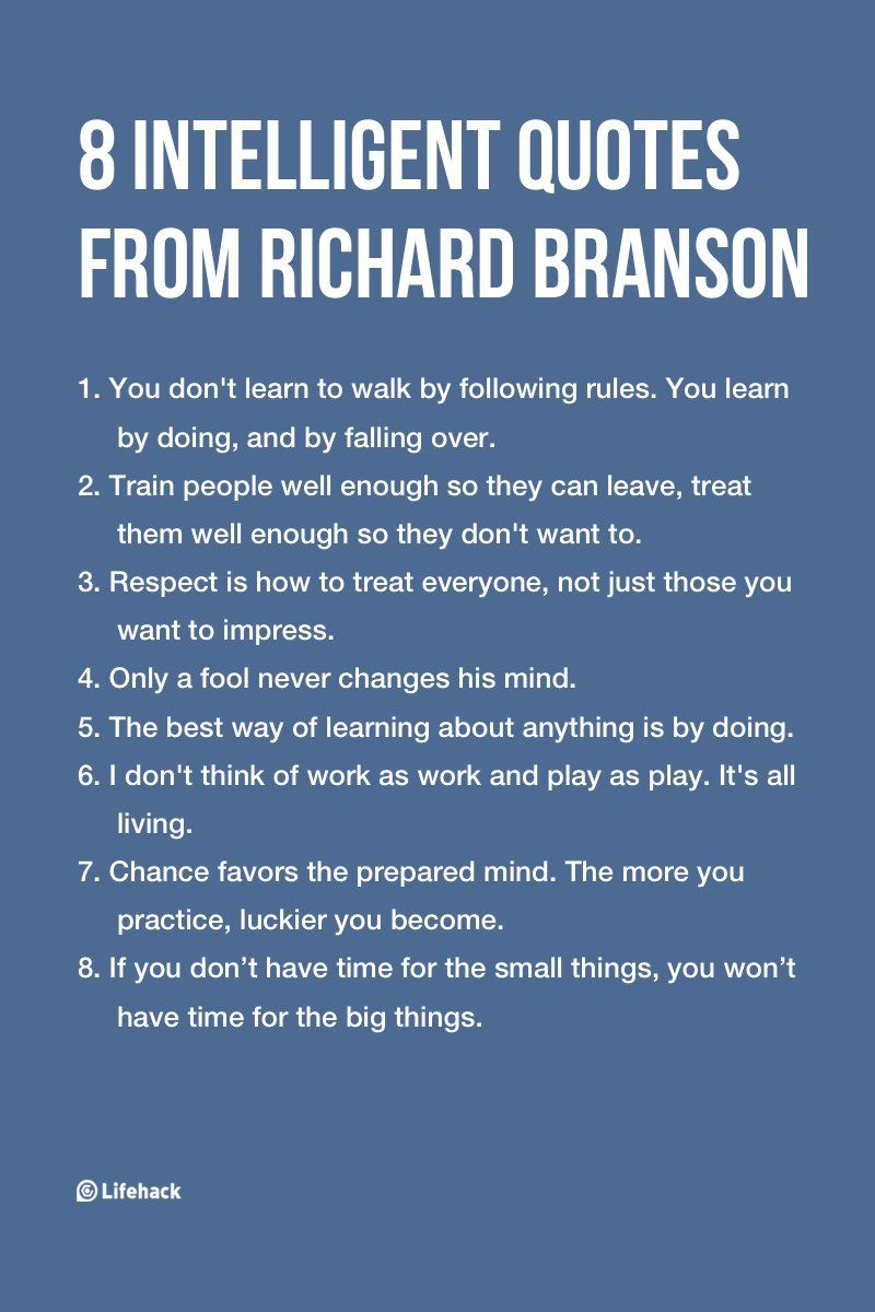 Intelligent Quotes 8 Intelligent Quotes From Richard Branson | Productivity | Quotes  Intelligent Quotes