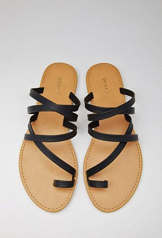 6e3fec493a44a Strappy Toe-Loop Sandals | Forever 21 - 2000052956 | Stay calm n buy ...