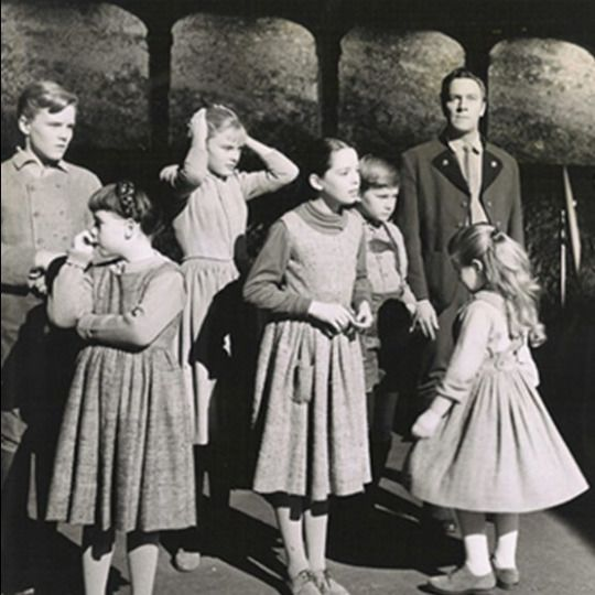 1965 The Sound Of Music Backstage Christopher Plummer And Children Making Of Final Scene Sound Of Music Movie Sound Of Music Musical Movies
