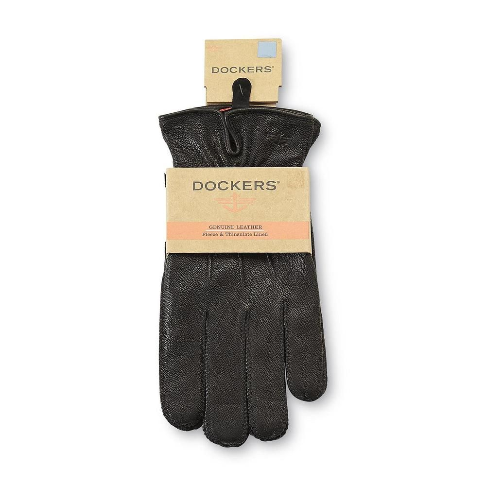 Epoch Men/'s Leather Thinsulate Lined Gloves Black X-Large