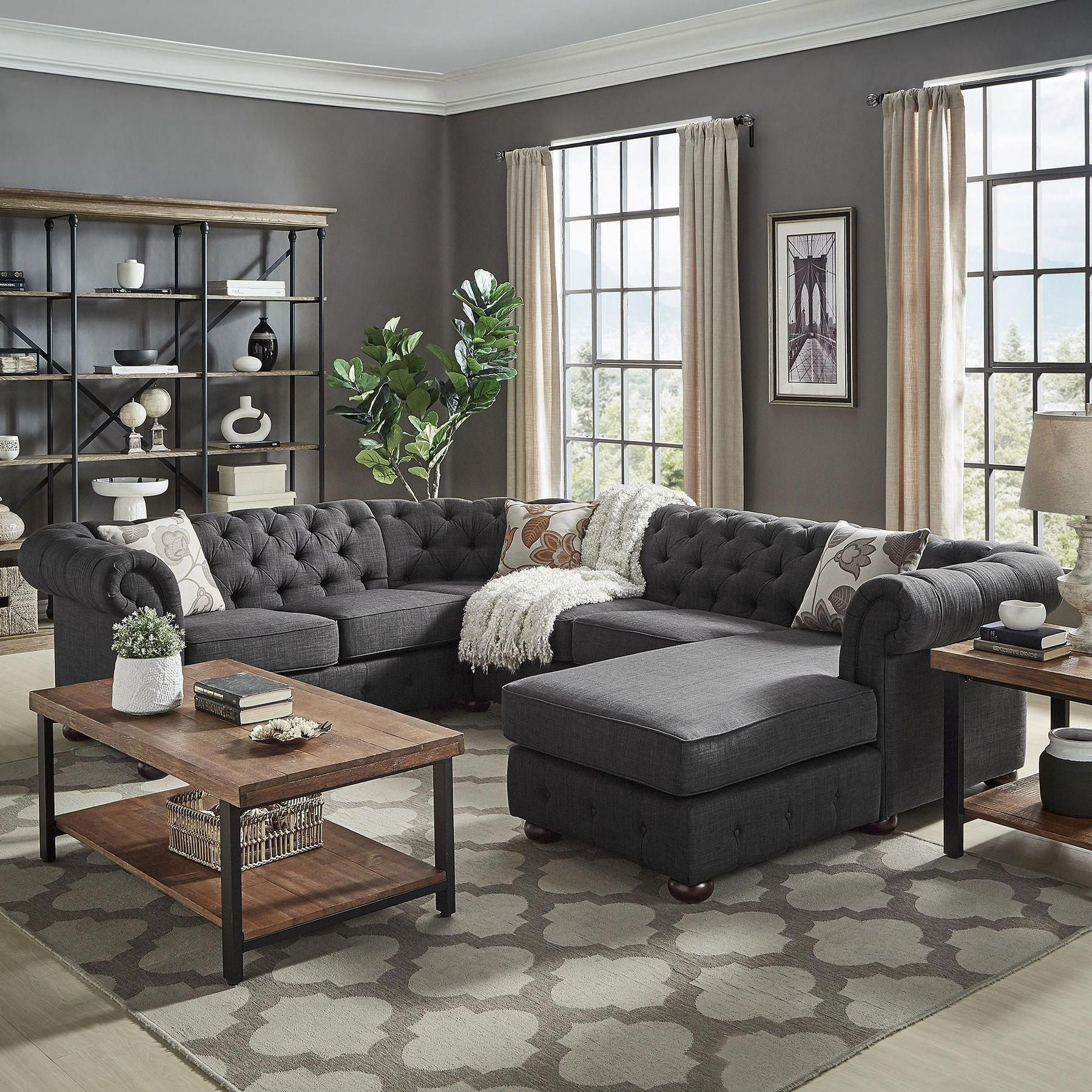 If Your Dining Room Is Used Just For Holidays Because It Appears Too Formal Cold A Grey Couch Living Room Small Living Room Decor Dark Grey Couch Living Room
