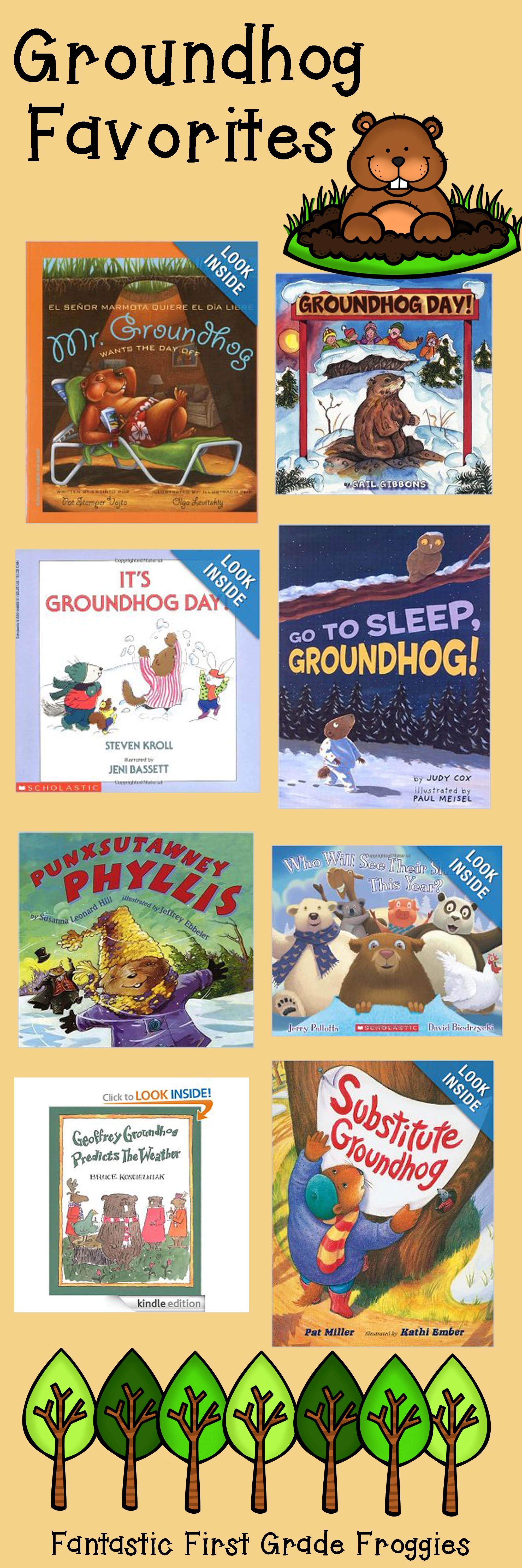 Uncategorized Groundhog Day Stories groundhog day books fantastic first grade froggies pinterest books