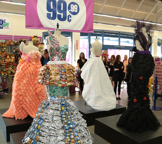 99 Cents Only Store In West LA Displays FIDM Students High Fashion Designs From