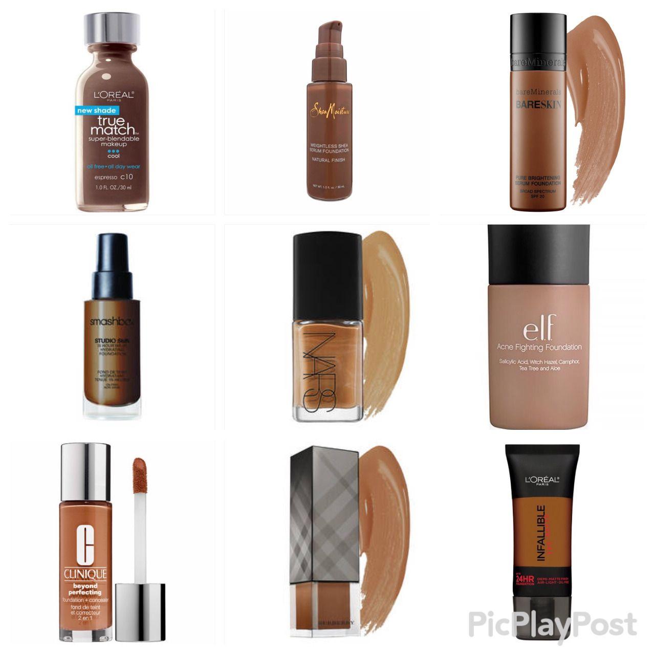 Foundations For Black Girls Dark Skin Makeup Skin Cosmetics Womens Makeup