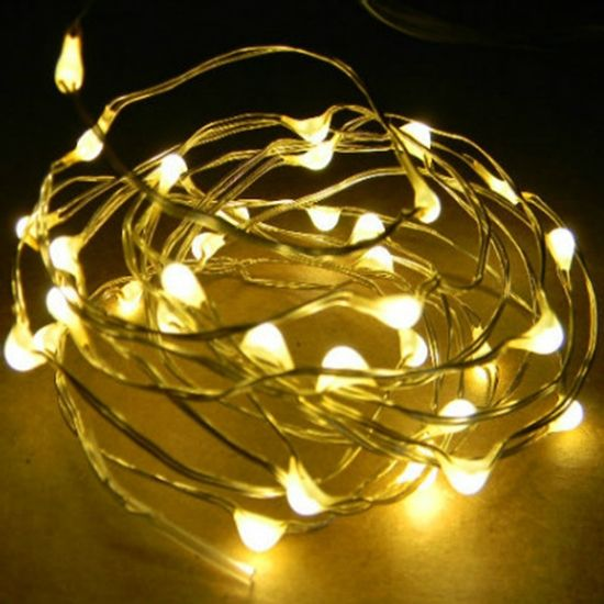 6 Ft Fairy Wire 36 Warm White Leds Power Option Waterproof Aa Battery Pack With Remote Warm White Fairy Lights Copper Wire Lights Fairy Lights