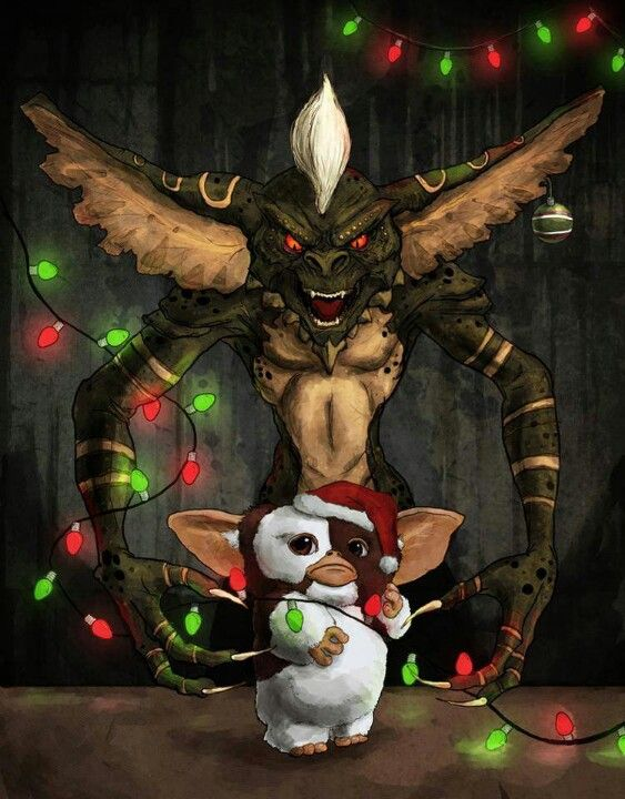 Gremlins I Think I M Going To Make This My Christmas Card Next Year Gremlins Art Creepy Christmas Gremlins