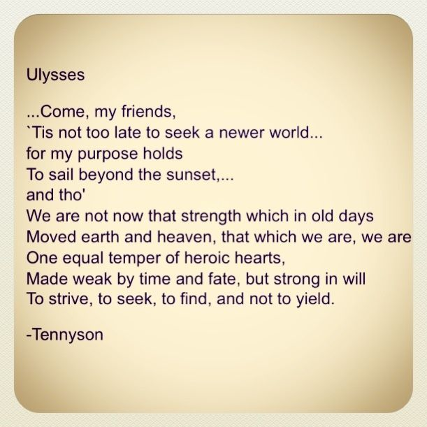 analysis of ulysses by alfred lord Alfred lord tennyson - poet - born in 1809, alfred lord tennyson is one of the most well-loved victorian poets.