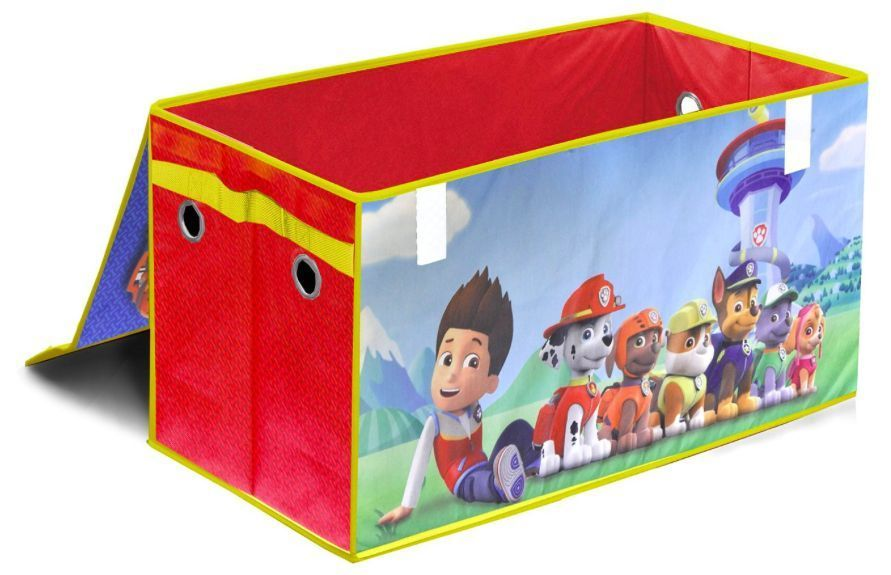 Paw Patrol Kids Toy Organizer Bin Children S Storage Box: Paw Patrol Toy Box Collapsible Storage Trunk Kids