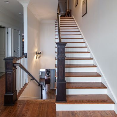 Best Dark Railing Design Ideas Pictures Remodel And Decor Wood Floor Stain Colors Traditional 400 x 300