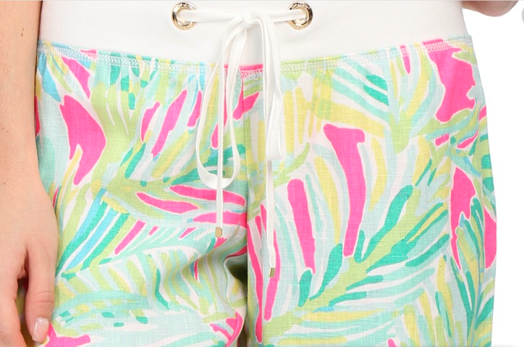 LILLY PULITZER  Tropical Pink Tropical Storm Beach Pants