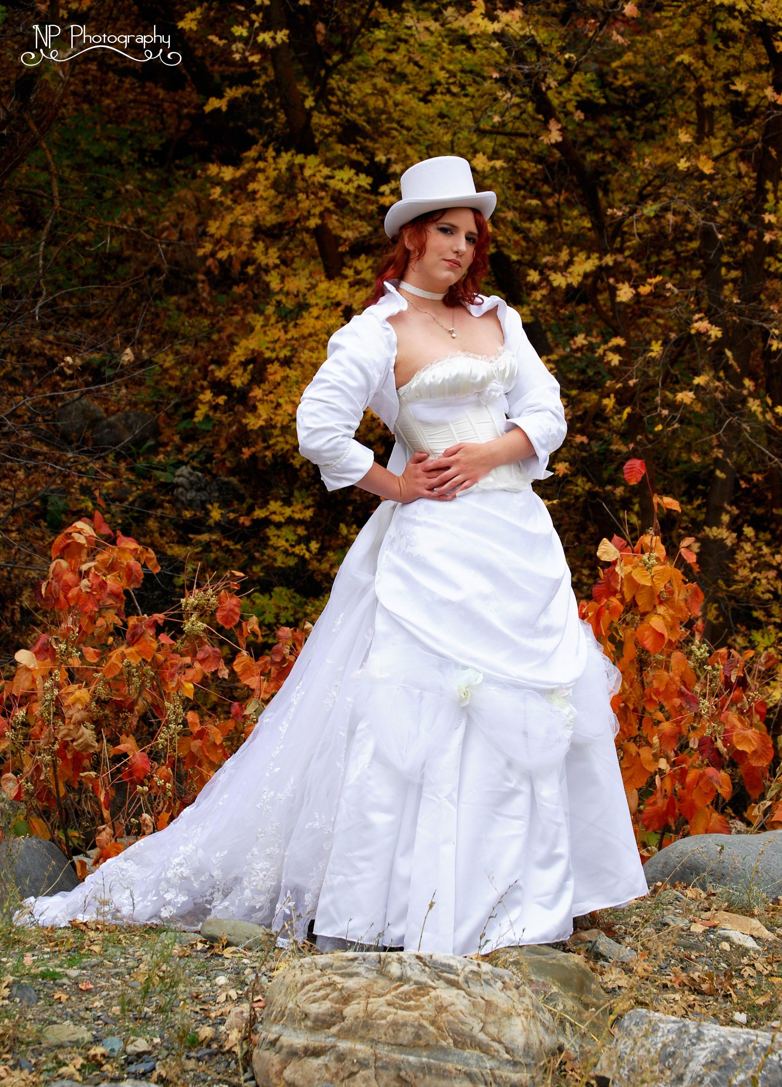 Steampunk victorian white wedding dress steampunk wedding for Plus size wedding dresses utah