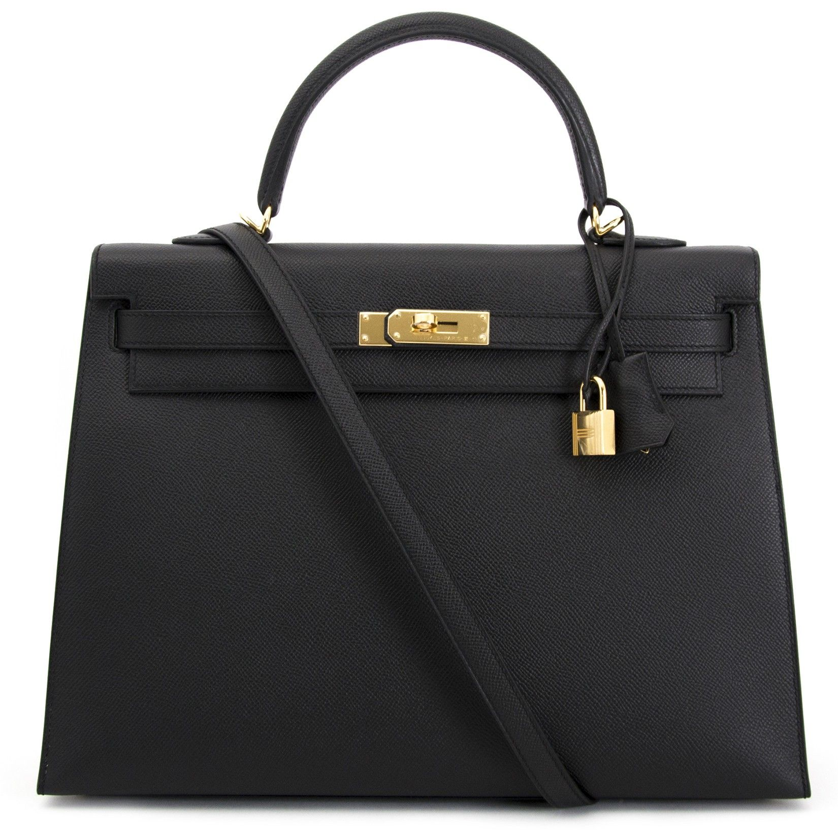 853f01bfd3dd Hermès Kelly 35 Black Epsom GHW for sale for the best price at Labellov