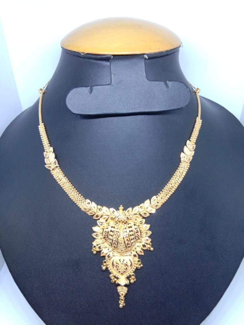 Ready For Sale New Design Gold Necklace Pure Handmade 916 Kdm Hallmark Gold Weight 20 Grams Cod Gold Necklace Pure Products Gold