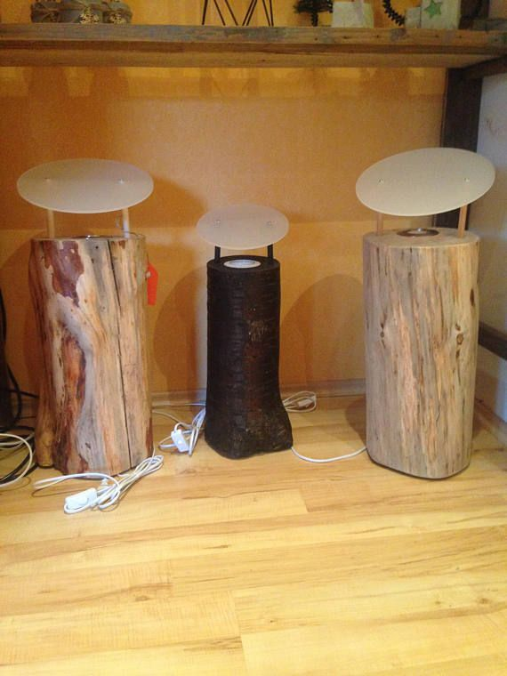Baumstamm Lampe Baumstamm Holzlampe Holz Lampe Home Decor Wood Furniture