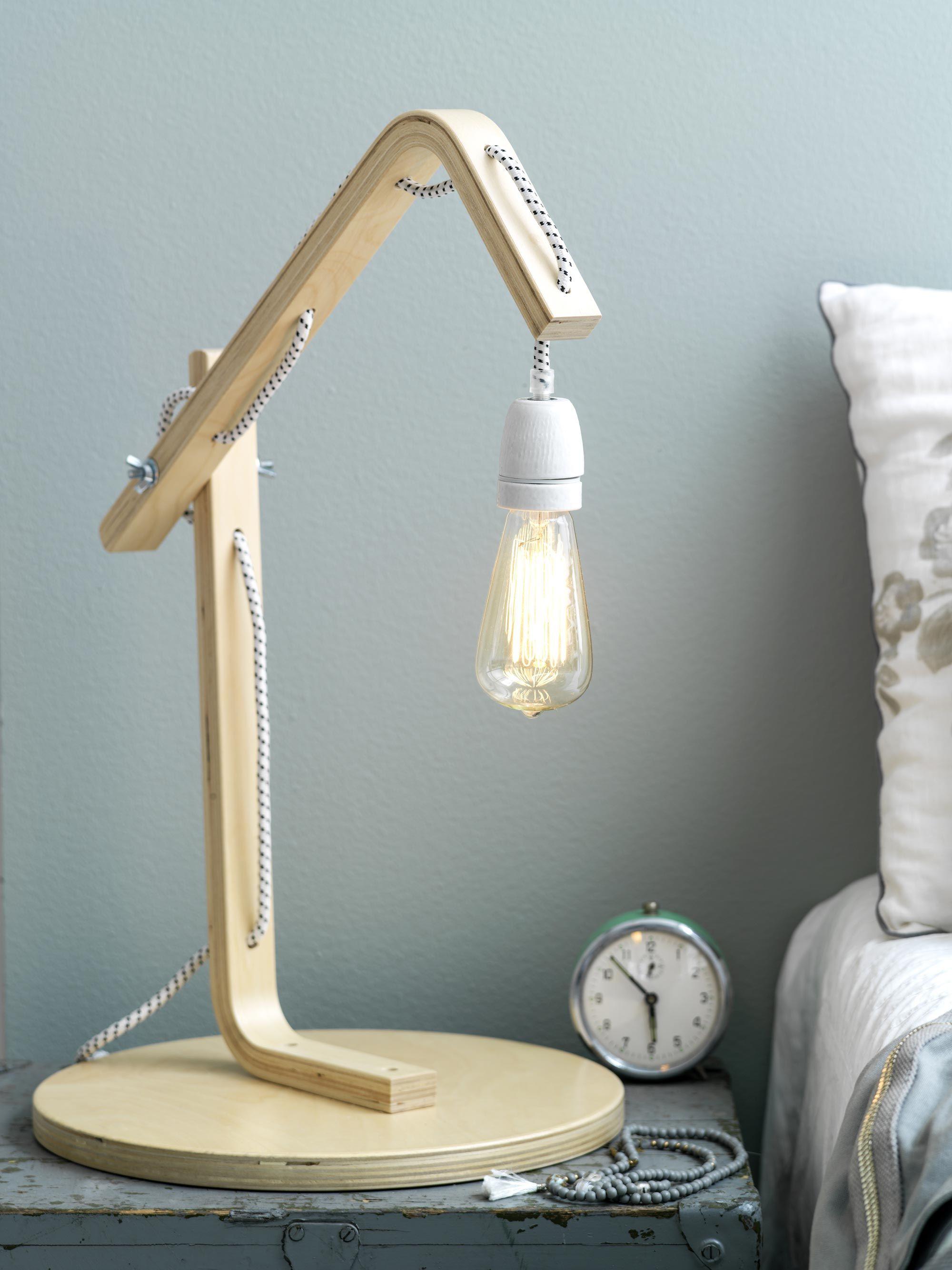 bedside light bedroom light diy ikea stool