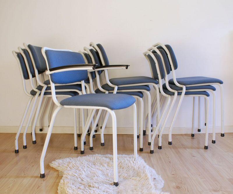 Blauwe Design Stoelen.10 Vintage Design Stoelen Gispen Th Delft Retro Blauwe Stoel