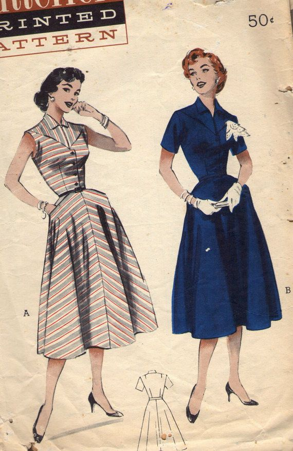 Vintage 1950s Butterick Sewing Pattern 6802 by SewAddicted2SewMuch ...