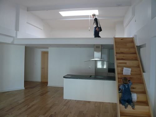 Mezzanine Floors In Houses mezzanine floor with wooden staircase villa modern facade design v