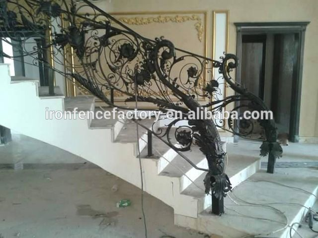 Source Modern Design Luxury Interior Wrought Iron Handrail / Outdoor  Wrought Iron Stair Railings/lowes