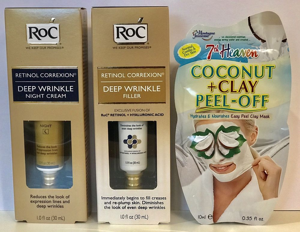 2 Roc Retinol Correxion Deep Wrinkle Items Filler Night Cream Gift Mask Roc Deep Wrinkles Retinol Night Creams