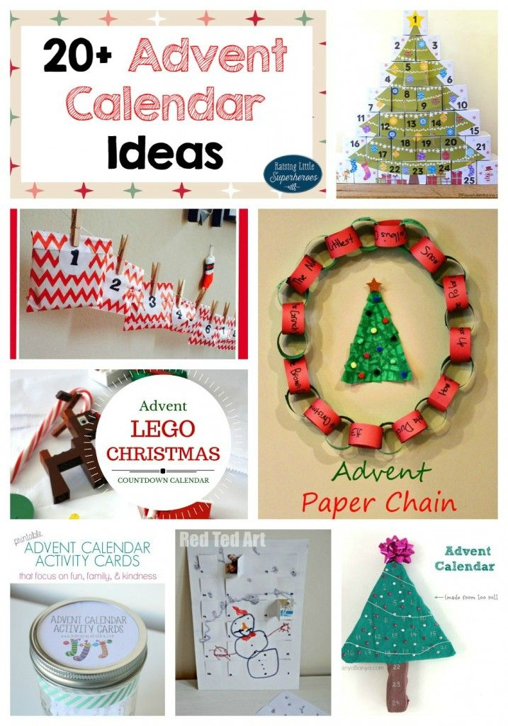 Calendar Ideas For Children To Make : Advent calendar ideas countdown to christmas