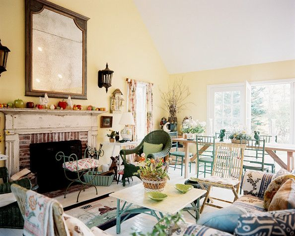 Vintage Living Room Photos  Open Spaces Wicker And Baskets Classy Dining Room Definition Review