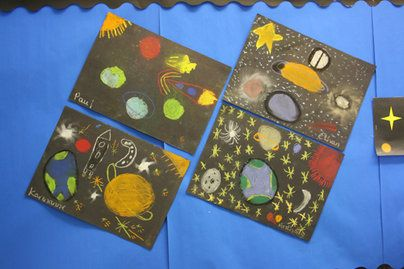 Space Art Display Classroom Display Class Display Space Planet