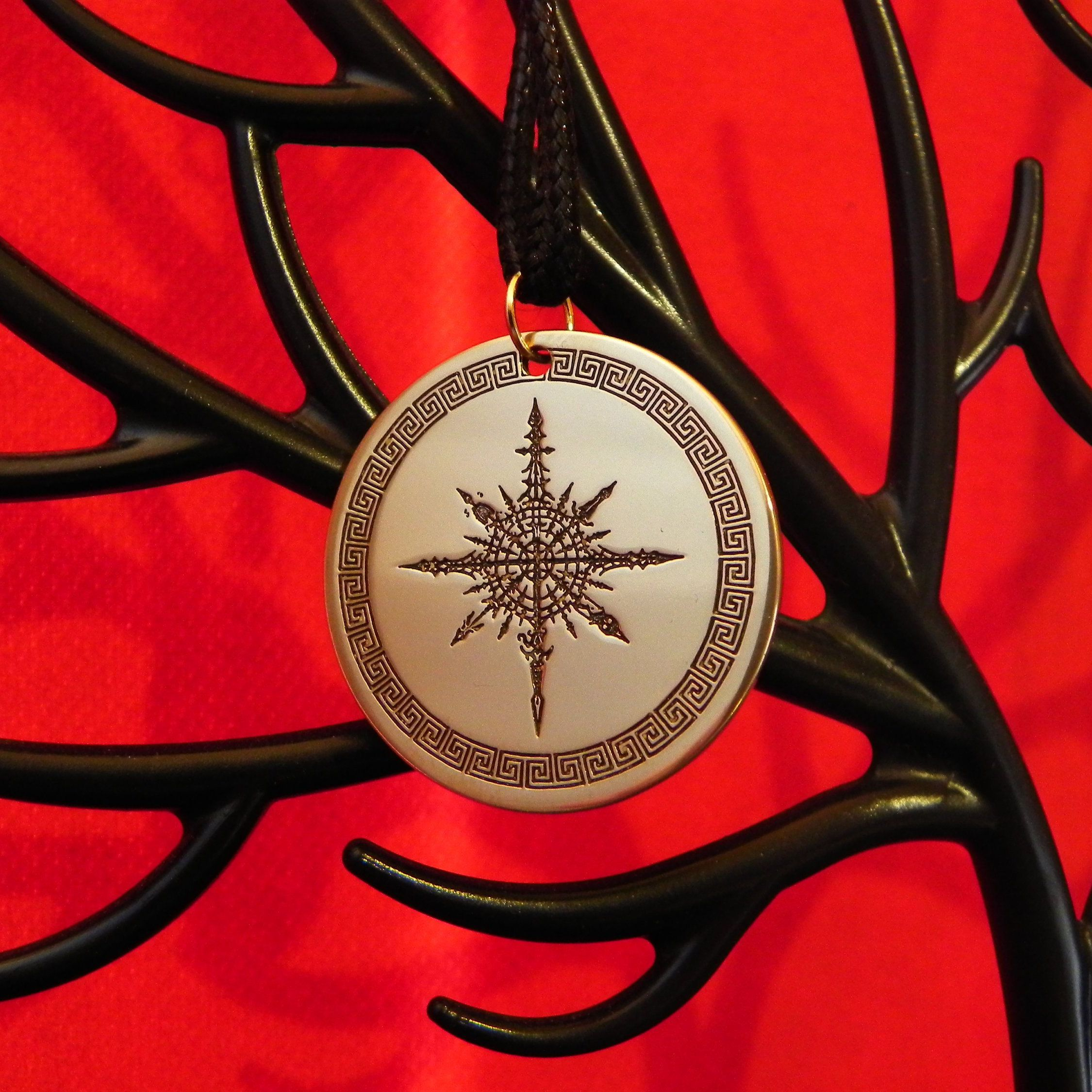 Chaos star symbol of the chaos of the first god of