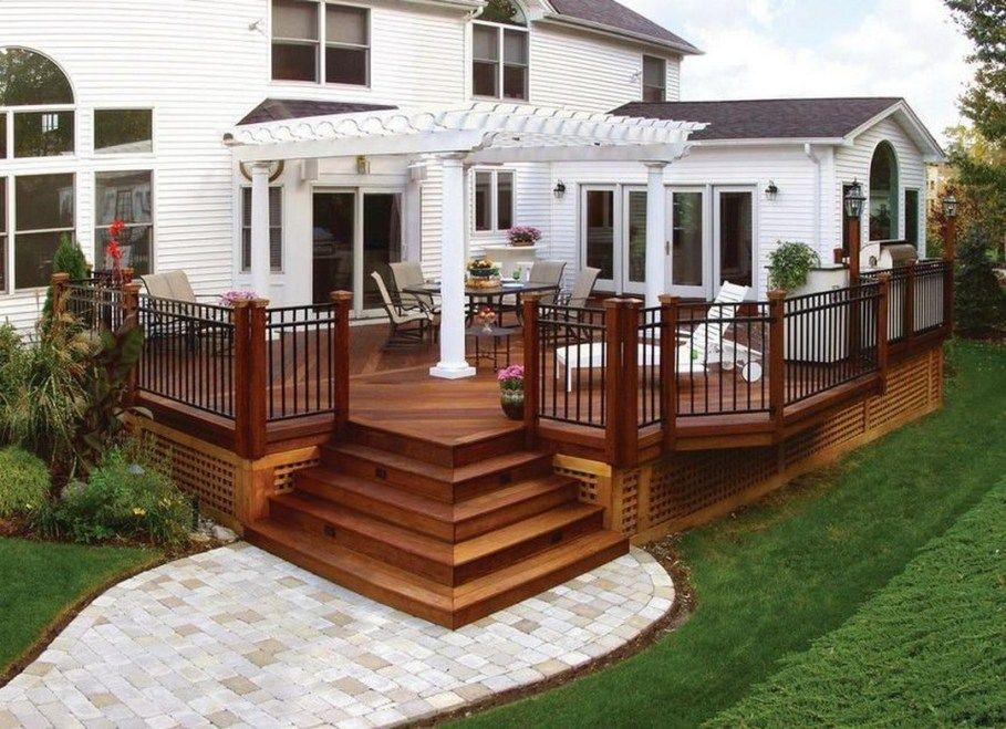 27 Gorgeous Patio Deck Design Ideas To Inspire You 14 Deck With Pergola Patio Deck Designs Building A Deck