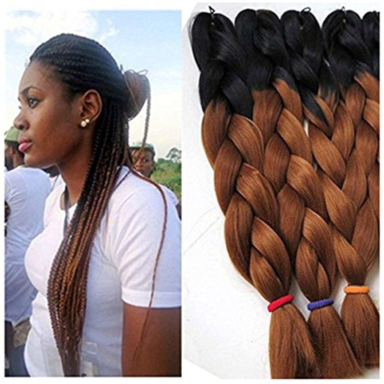 Yami Hair 5 Pieces 24 Kanekalon Jumbo Braid Afro Jumbo Braiding Hair Extensions Ombre Braiding Hair Synt Braided Hairstyles Jumbo Braiding Hair Ombre Braid