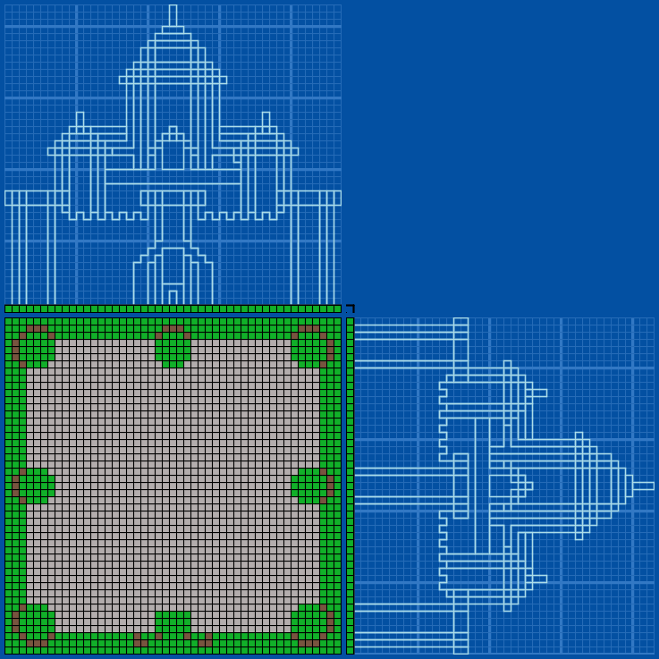 Castle With Blue Towers - Grabcraft