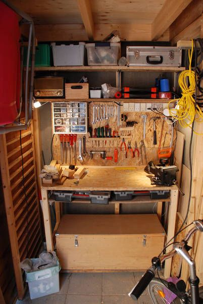 Convert storage room into workshop for matthew maison for Small basement workshop ideas