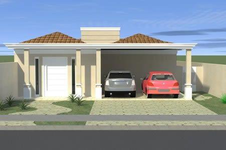 Projetos de casas modernas e baratas Fachadas y Casas