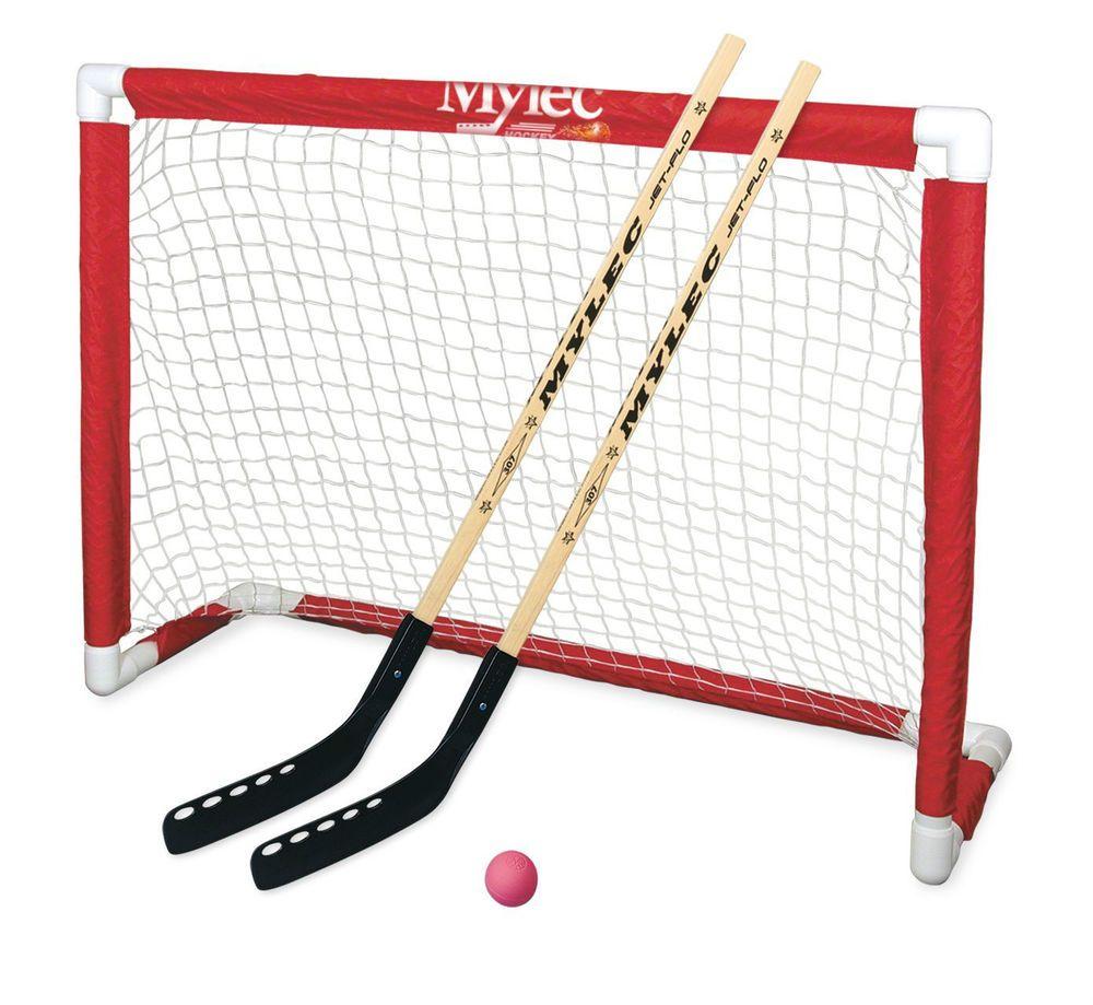 Junior Beginners Hockey Goal For Driveway Street Backyard Or Basement Use Mylec Deluxe Hockey Goal Set Jr Beginner Street Folding Sti Street Hockey Hockey Goal Hockey Nets