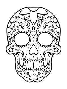 skull coloring page printable coloring pages sheets for kids get the latest free skull coloring page images favorite coloring pages to print online - Sugar Skull Tattoo Coloring Pages