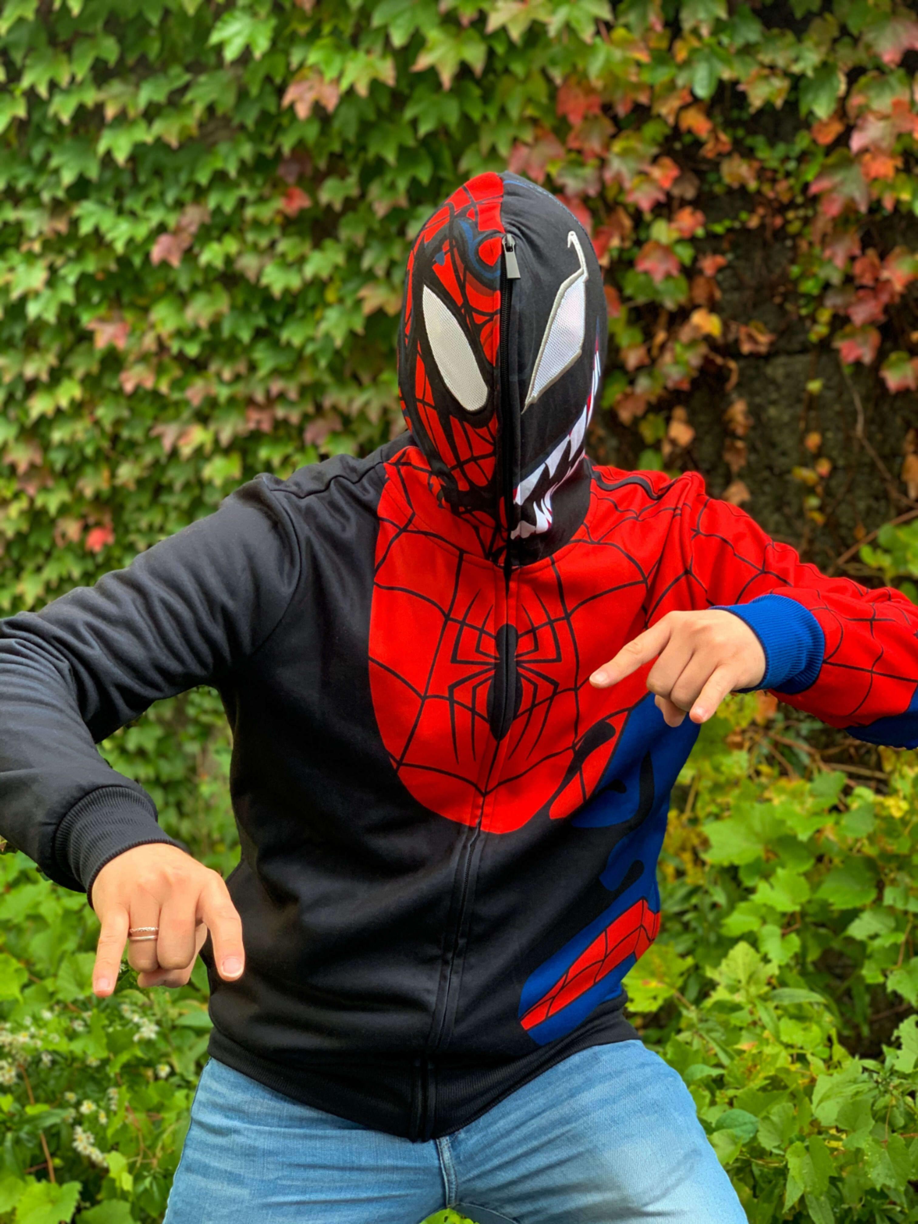 Spider Man Venom Cosplay Hoodie Black S Fye Spiderman Hoodies Black Hoodie [ 4032 x 3024 Pixel ]