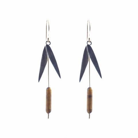 Annette Ferdinandsen cattail earrings