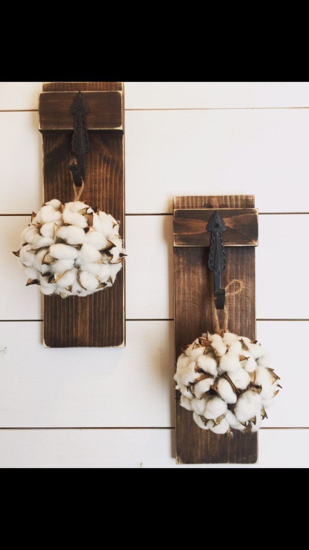 Hanging Cotton Ball Cotton Cotton Boll Rustic Hanging Jar