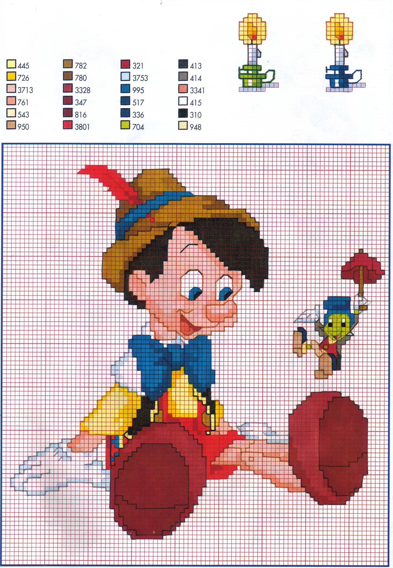 pinocchio hama perler beads pattern x stitch disney pinterest