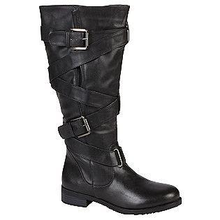 Bongo Women S Birney Buckle Wrap Flat Boot Black Black Flat Boots Boots Black Boots
