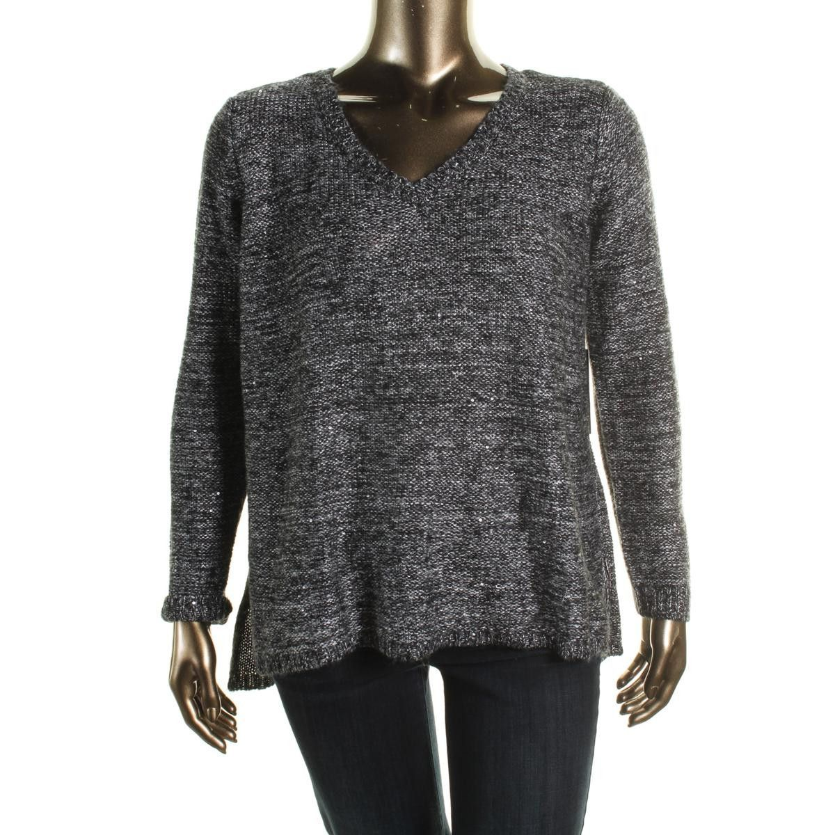 BB Dakota Womens Marled V-neck Tunic Sweater | Products ...