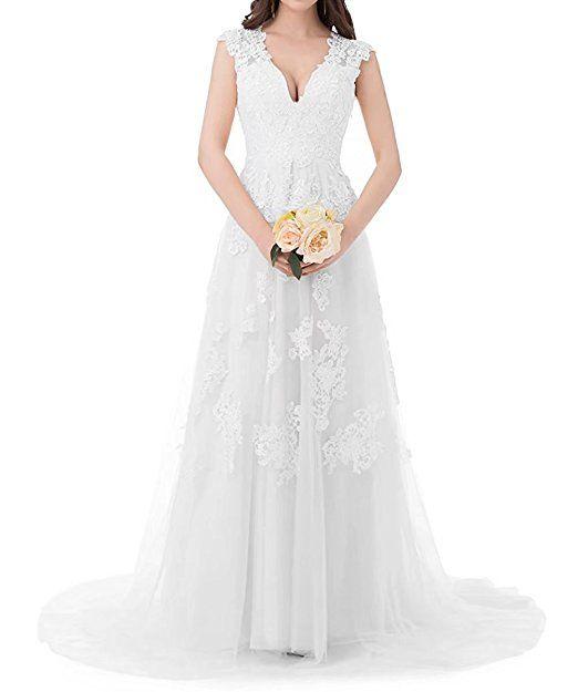 Hochzeitskleider Hülsen Spitze eine Linie BrautKleider AbendKleider ...