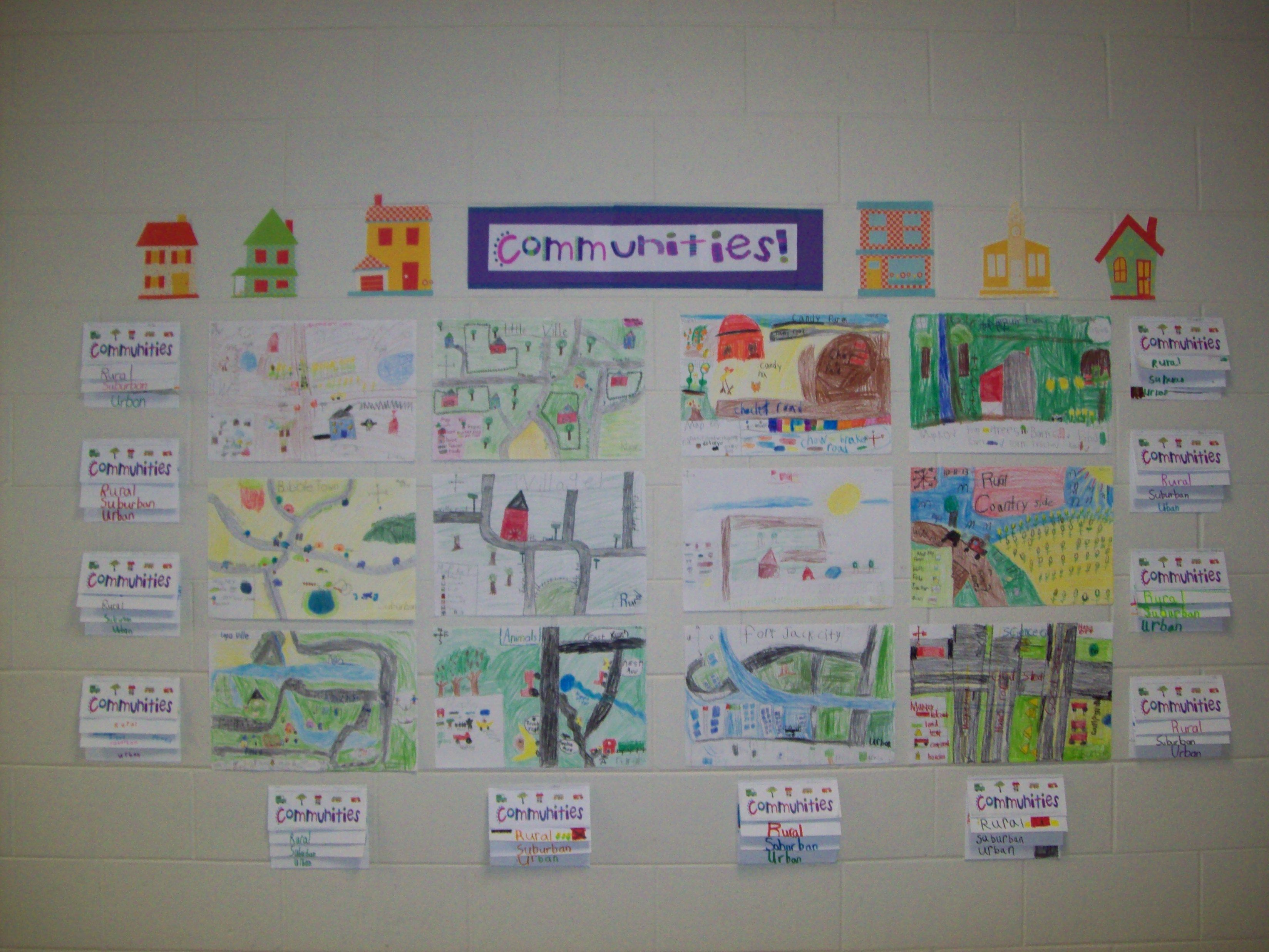 Community Map Project The Students Made Their Own Maps