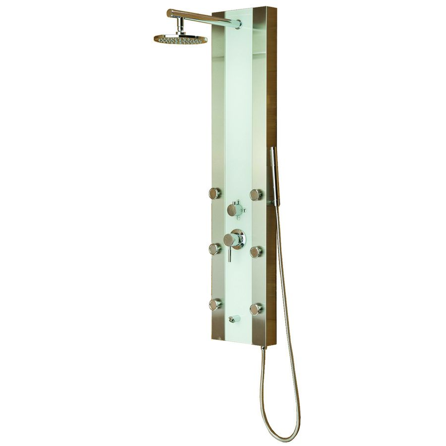 Shop PULSE Tropicana 4-Way Brushed Stainless Steel Shower Panel ...